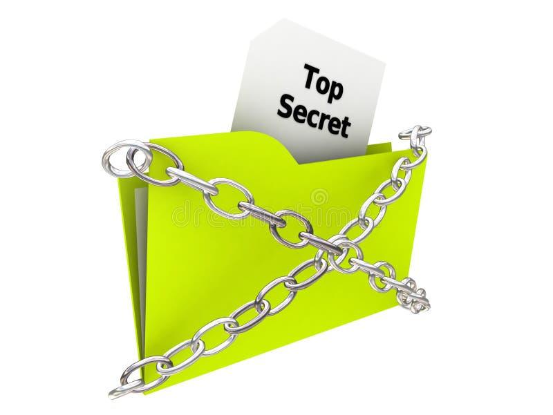 Folder - Top Secret vector illustration