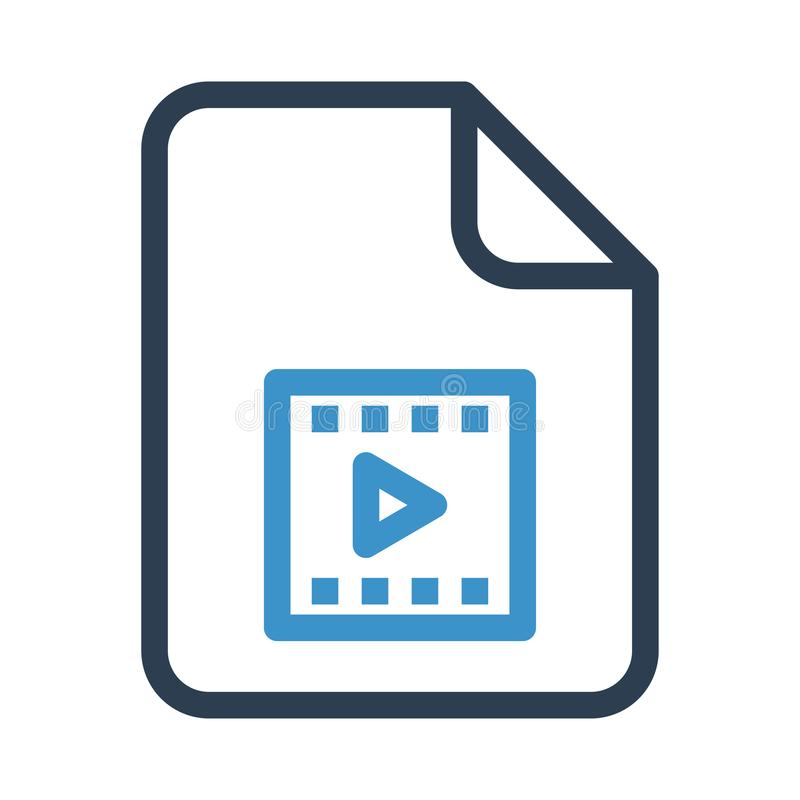 Folder video reel line icon. Folder video reel icon. Elements for mobile concept and web apps. Thin line icons for website design and development, app royalty free illustration