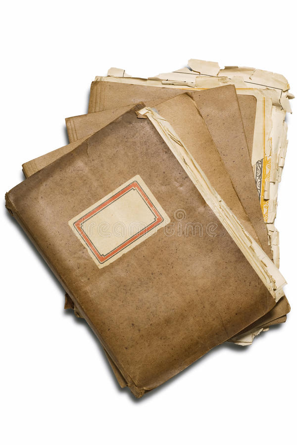 Folders. A pile of folders on white royalty free stock images