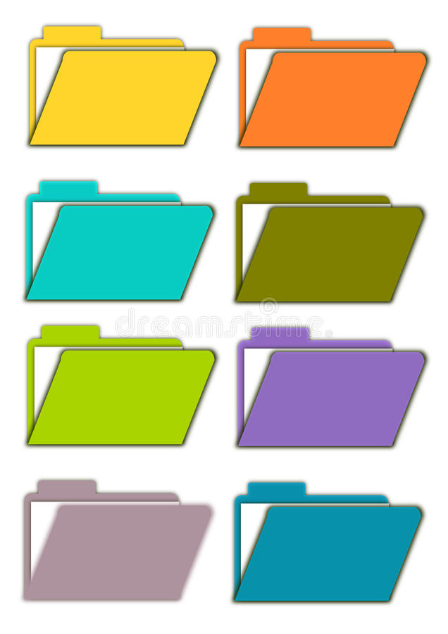Folders royalty free stock image