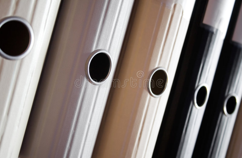Folders. Gray, white and black folders to organize files stock photography