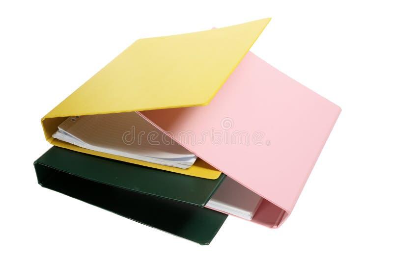 Folders. On Isolated White Background stock photography