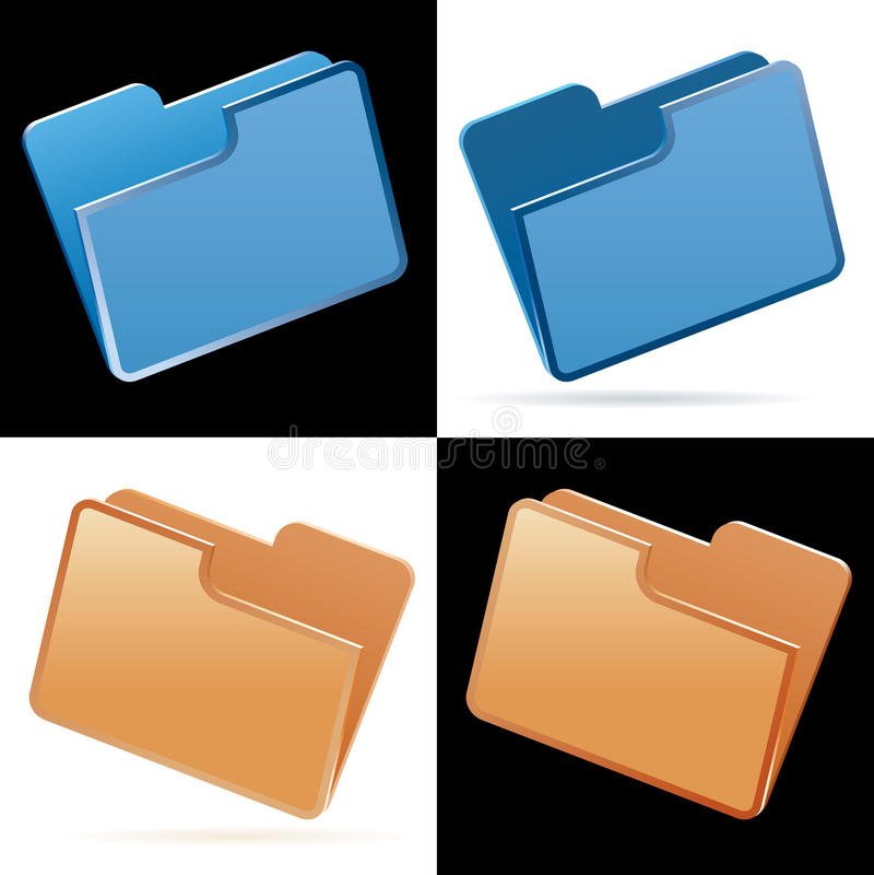 Download Folders stock illustration. Illustration of blue, export - 23024946