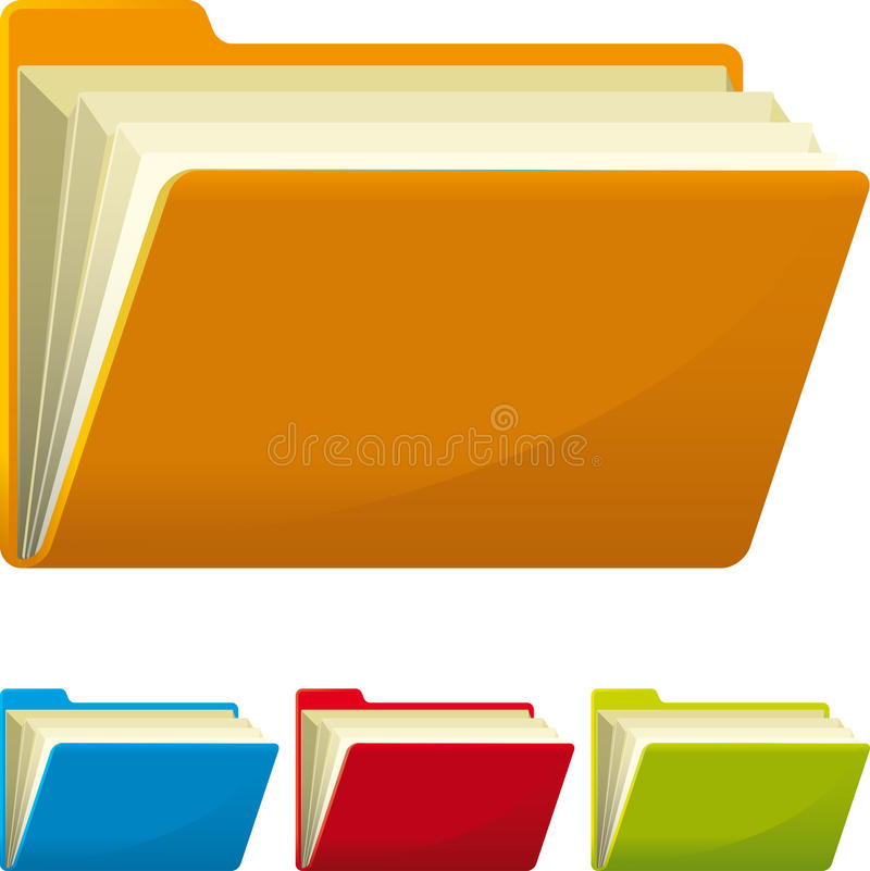 Download Folders stock vector. Image of page, green, rasp, clip - 27853902