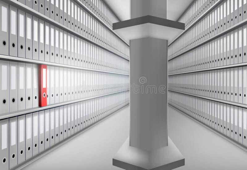 Folders in archive. Vector illustration. vector illustration
