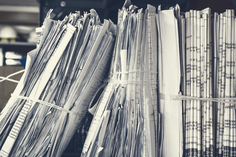 Folders of documents are stacked. Thick folders of documents are stacked for background royalty free stock photos