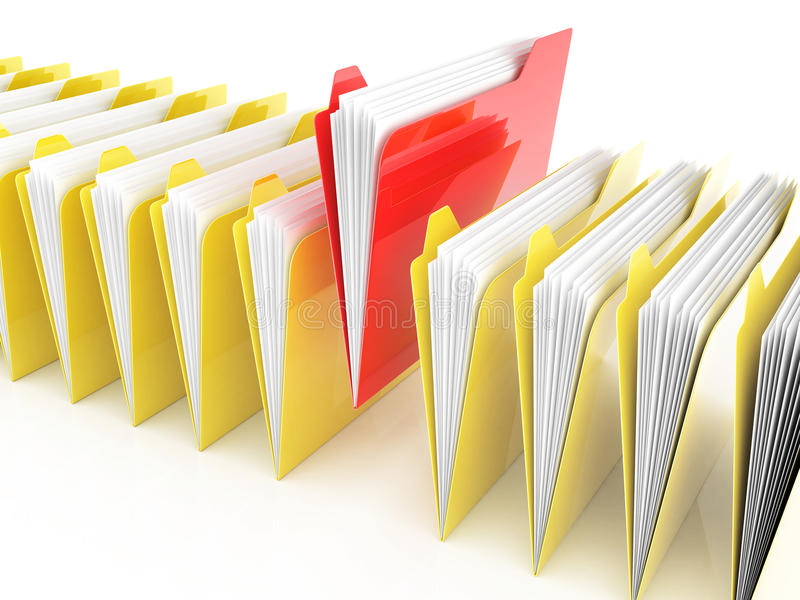 Download Folders and files stock illustration. Image of paperwork - 32152688
