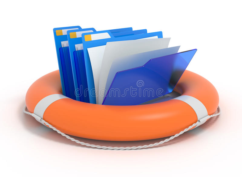 Download Folders In A Lifebuoy. Stock Photo - Image: 20189210