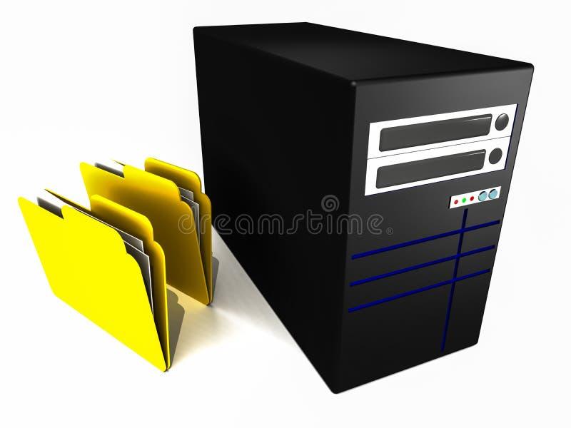 Folders with server royalty free illustration