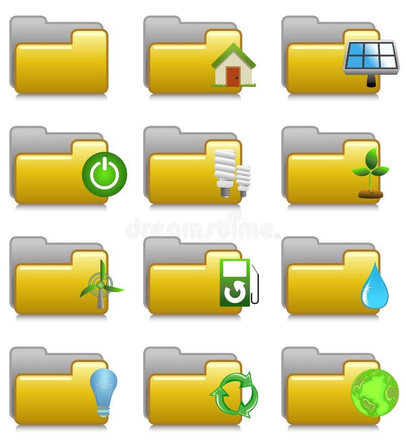 Folders Set - Environment Applications Folders 17 stock images