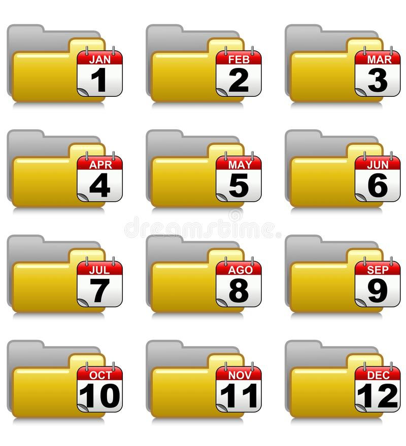 Folders Set - Office Applications Folders 18 royalty free stock images