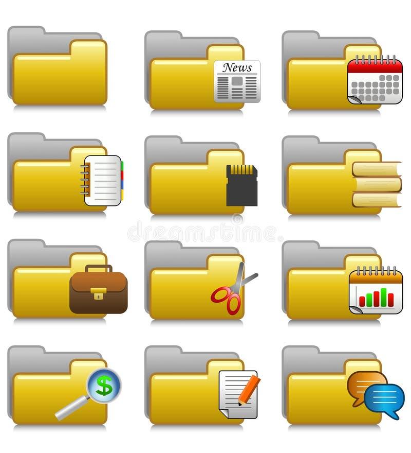 Folders Set - Office Applications Folders 20 royalty free stock photos