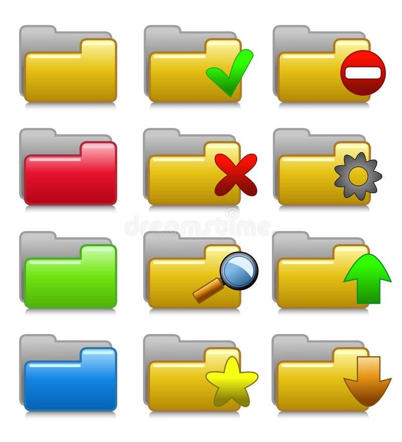 Download Folders Set - Web Media Applications Folders 01 Stock Vector - Illustration of icon, binder: 28660014