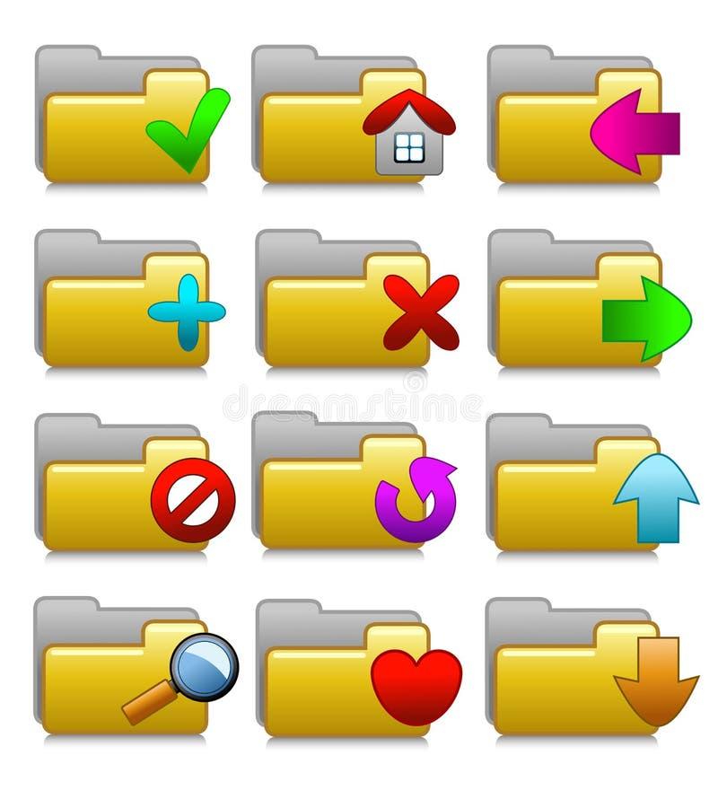 Folders Set - Web Media Applications Folders 02 royalty free stock photo