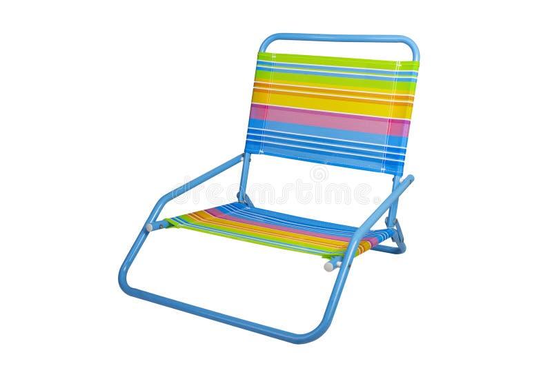 Folding Beach Chair stock photo