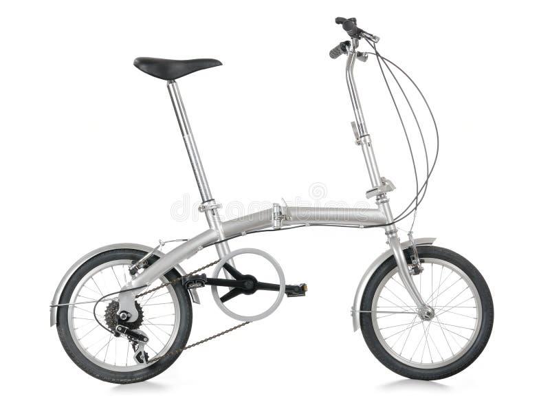 Folding bike. Portable collapsible folding bicycle bike royalty free stock images