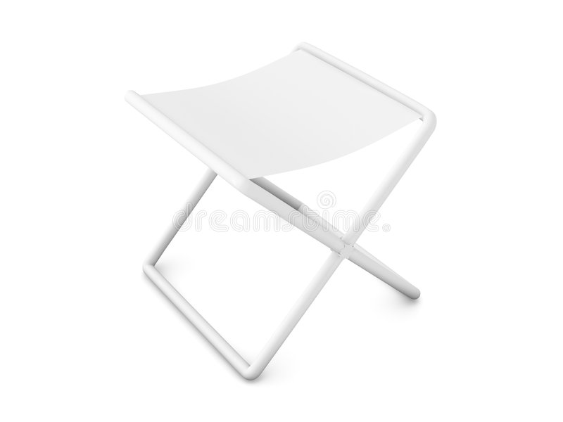 Folding Chair - Pure white stock image