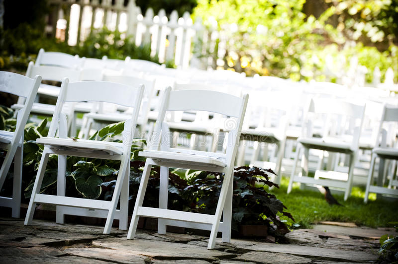 Download Folding chairs stock photo. Image of nobody, white, decoration - 23366438
