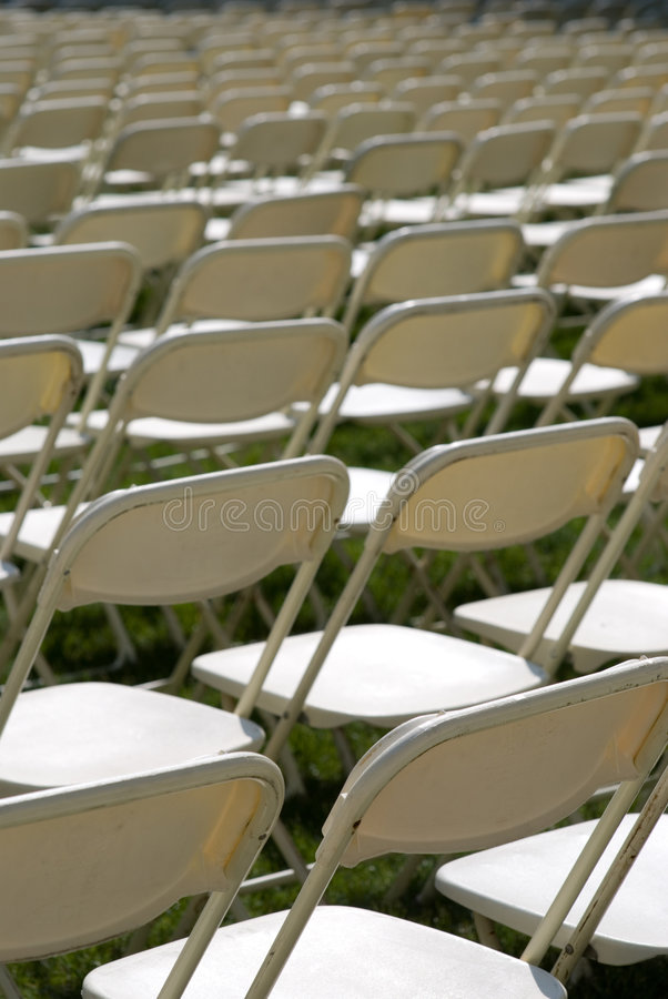 Folding Chairs Stock Photo