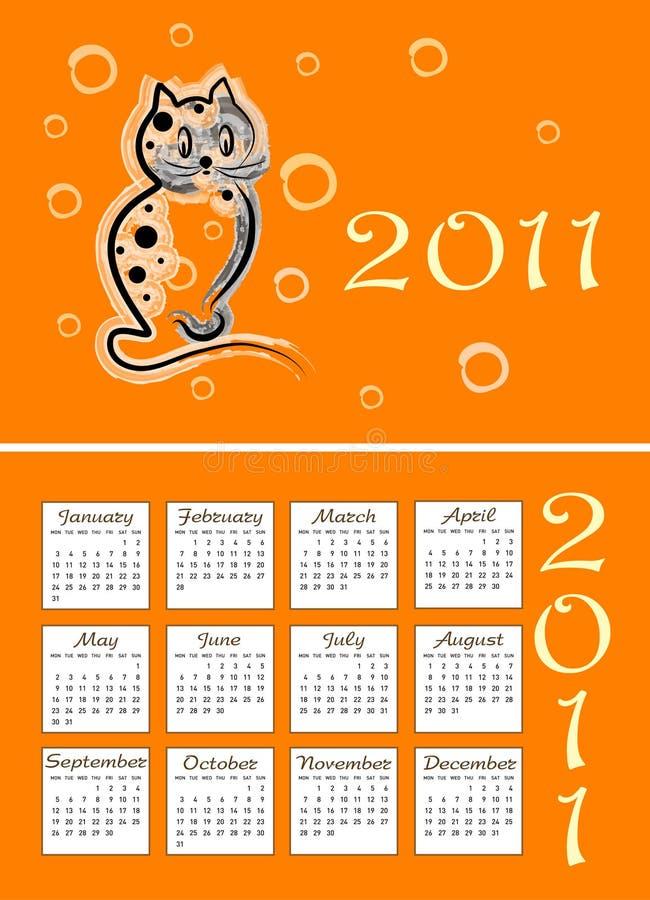 Download Folding Childish Calendar 2011 Stock Vector - Image: 16789209