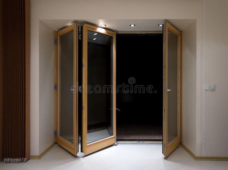 Folding doors royalty free stock image