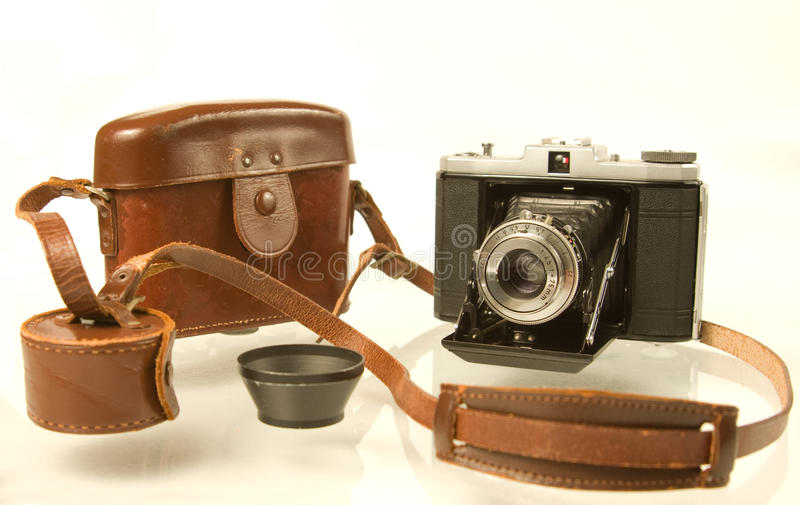 Download Folding Medium Format Camera With Case Stock Photo - Image: 10511564