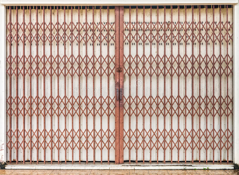 Bon Download Folding Old Red Metal Door Gate Stock Image   Image Of Building,  Home: