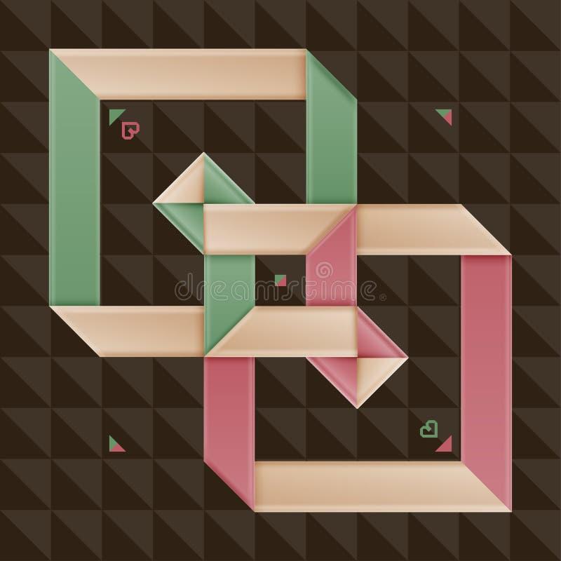 Folding Paper Style Retro Options Stock Image
