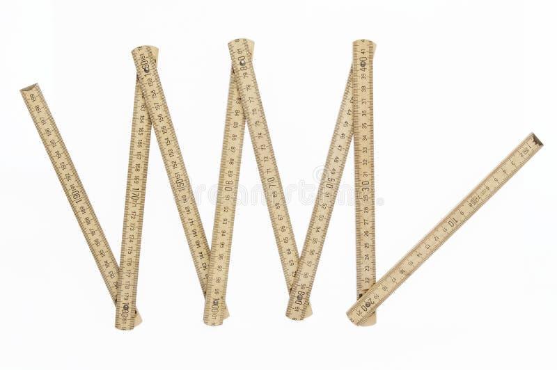 Folding ruler royalty free stock photos