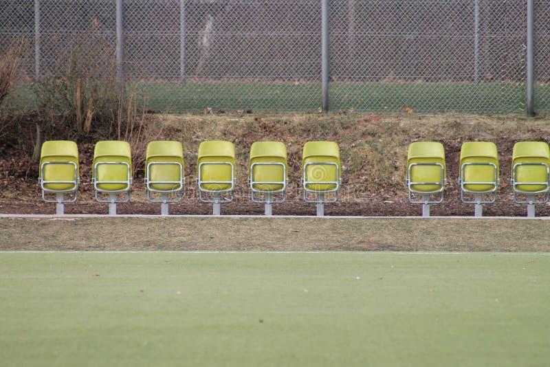 Folding seats stock photography