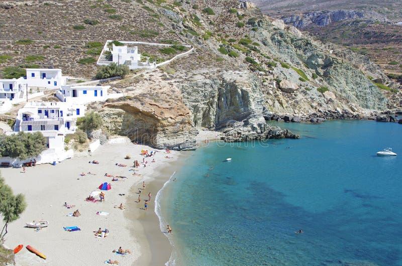 Folegandros Agali Beach royalty free stock image