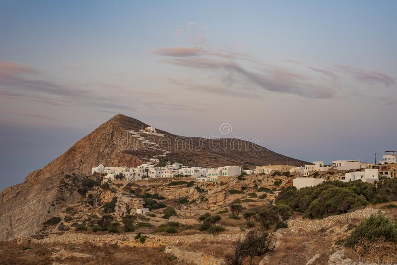 FOLEGANDROS ISLAND, GREECE. FOLEGANDROS ISLAND, CYCLADES ISLANDS GREECE royalty free stock image