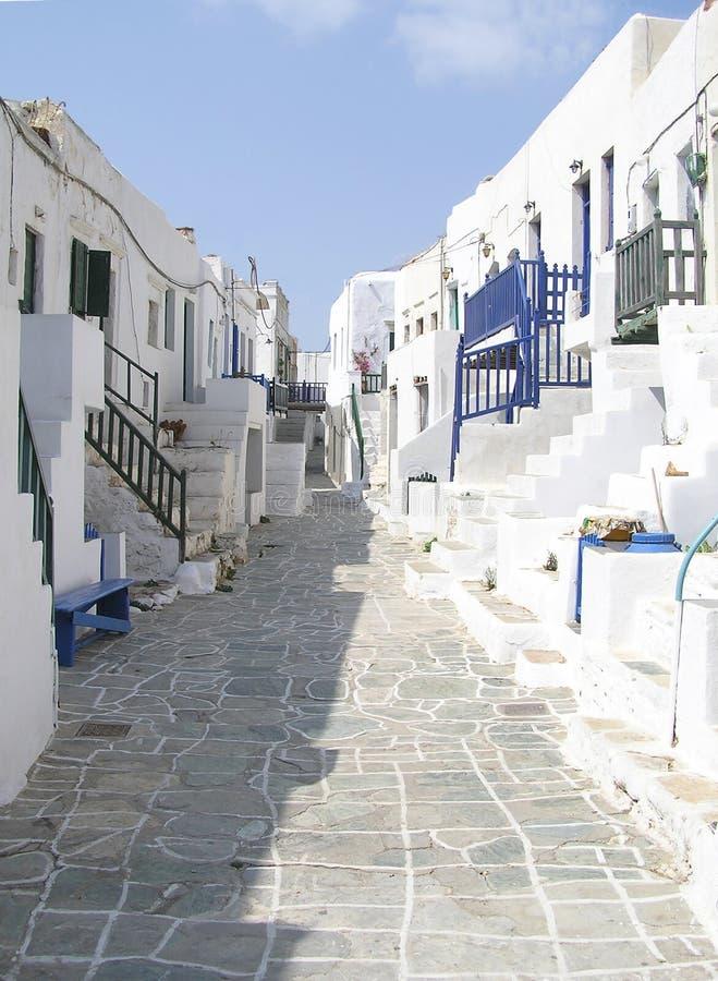 Folegandros island, Greece. Traditional houses, view of the town, Folegandros island, Greece royalty free stock photo