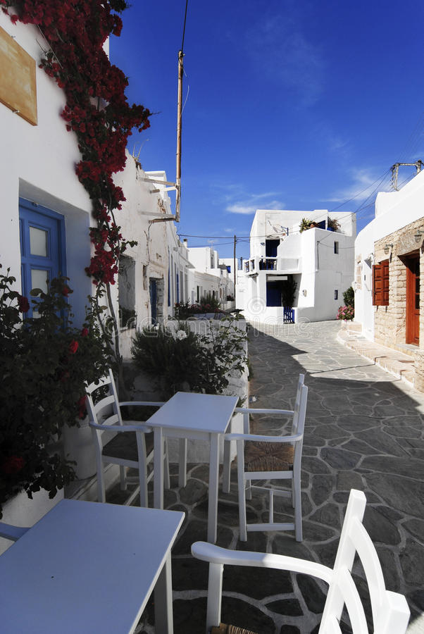 Folegandros Island, Greece. Picturesque alleys in Folegandros island, Greece stock images