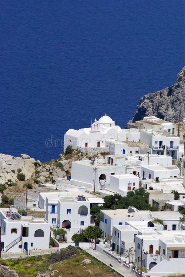 Folegandros Karavostasi royalty free stock photos