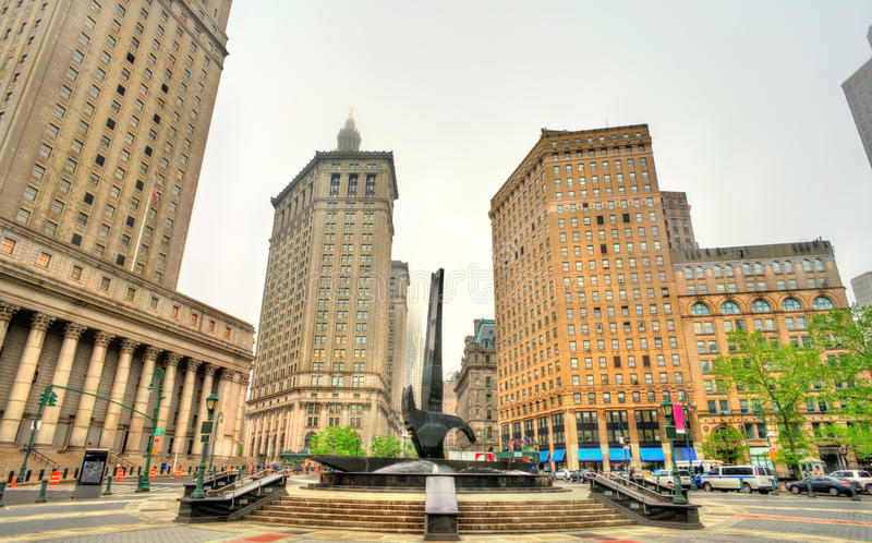 Foley kwadrat w Manhattan, Miasto Nowy Jork obraz stock