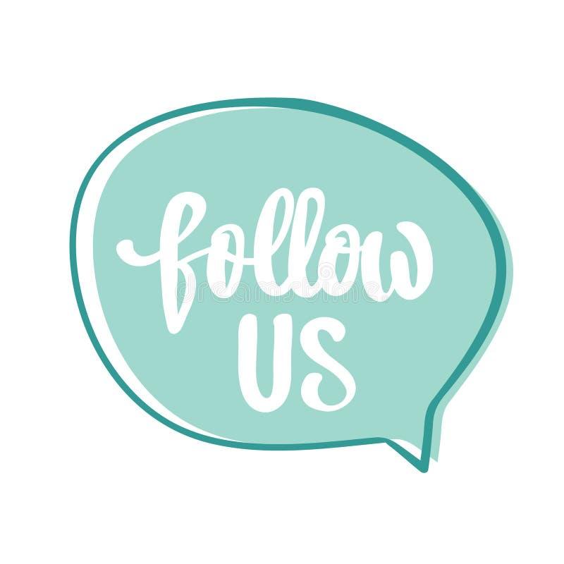 Download Folgen Sie Uns Hand Schriftliches Typografieplakat Stock Abbildung - Illustration von fahne, getrennt: 96934764