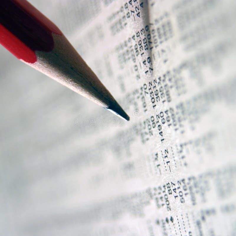 Folgende Aktienkurse lizenzfreie stockfotos
