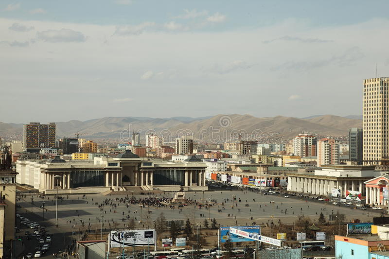 Folgendes Ex-Präsidentenanhalten der Ruhelosigkeit, Mongolei stockfoto