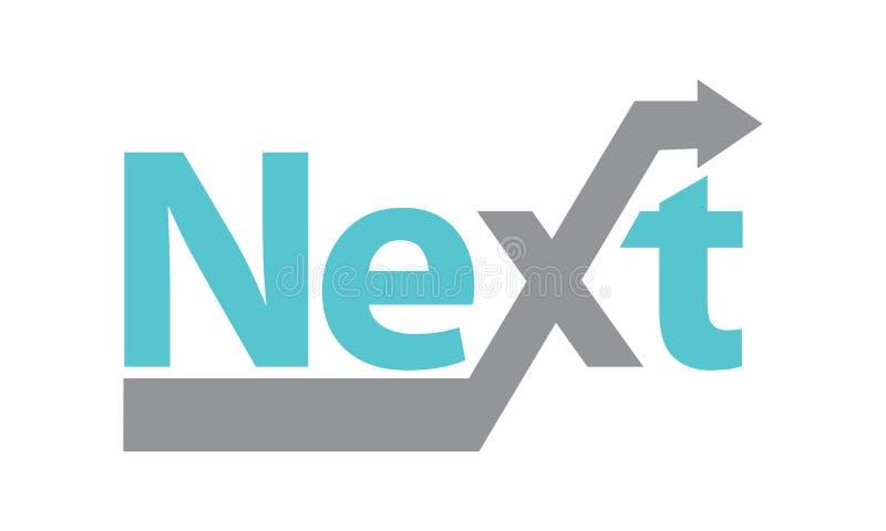 Folgendes Logo stock abbildung