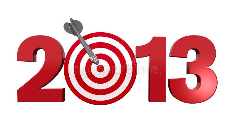 Folgendes Ziel 2013. lizenzfreie abbildung