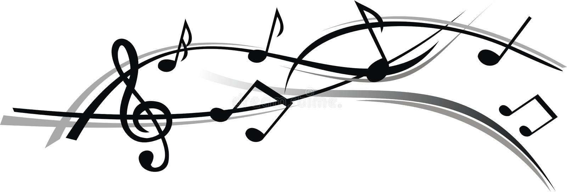 Folha abstrata da música com fundo branco foto de stock