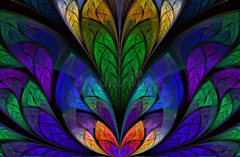 Folha bonita multicolorido da ?rvore Gr?ficos gerados por computador ilustração do vetor