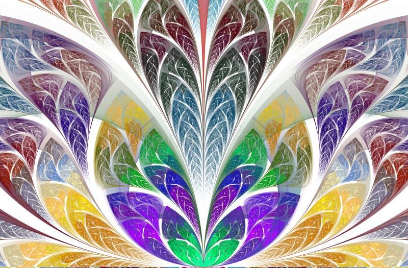 Folha bonita multicolorido da ?rvore Gr?ficos gerados por computador ilustração stock