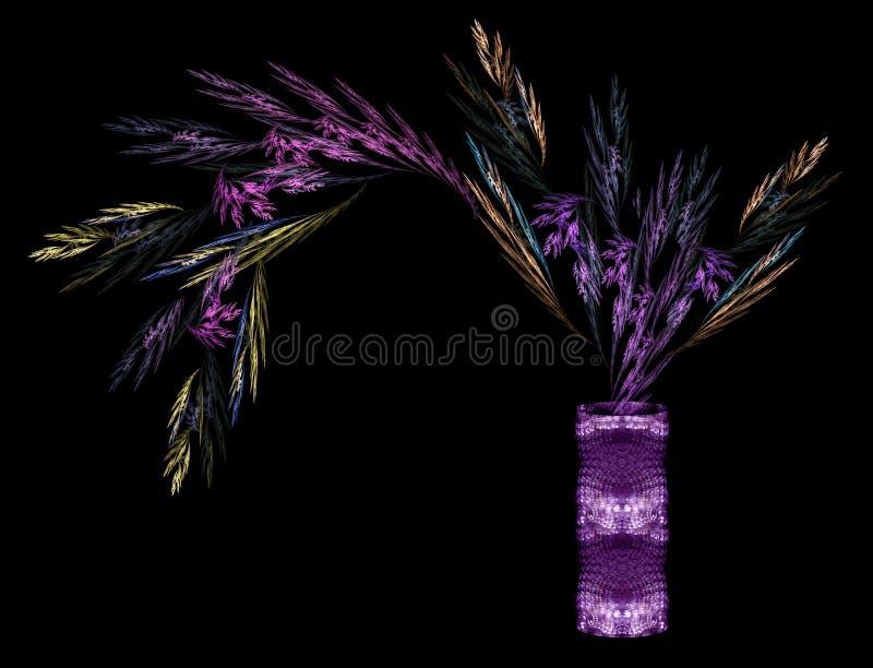 Folha colorido em um vaso cilíndrico, proces ilustração stock