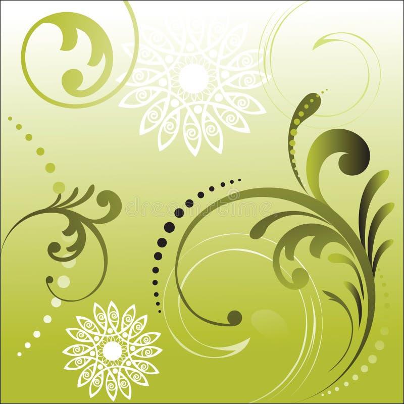 Folha com formas da flor ilustração do vetor
