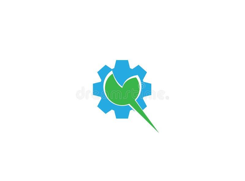 Folha com o pinhão para a ilustração do projeto do logotipo ilustração royalty free