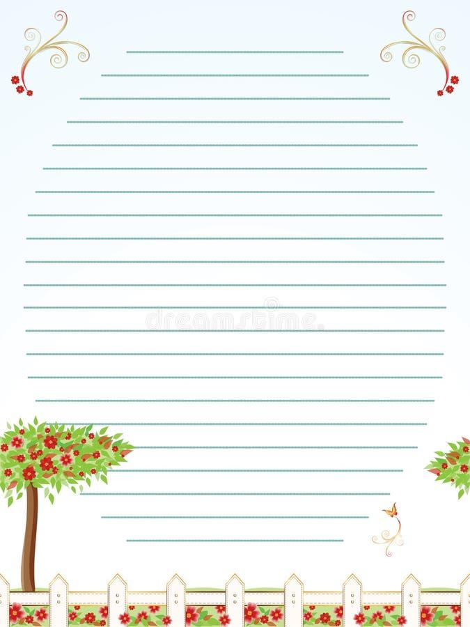 Folha da correspondência da infância ilustração do vetor