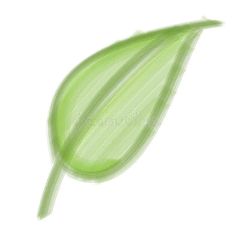 Folha da escova de cerda ilustração do vetor