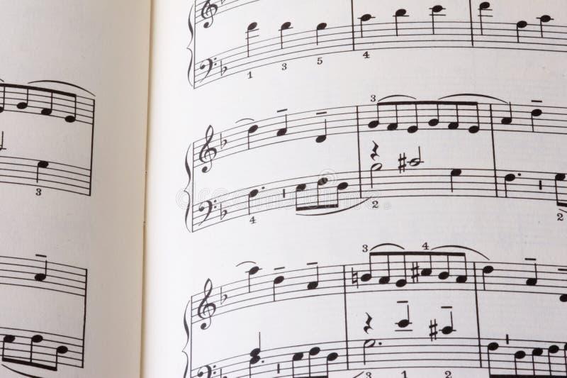 Folha da música P01 imagens de stock royalty free